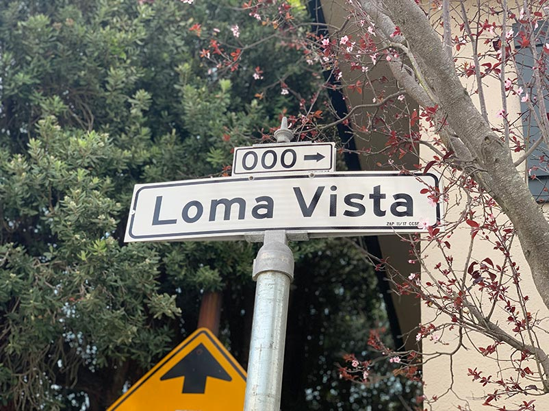 Loma Vista Terrace street sign San Francisco