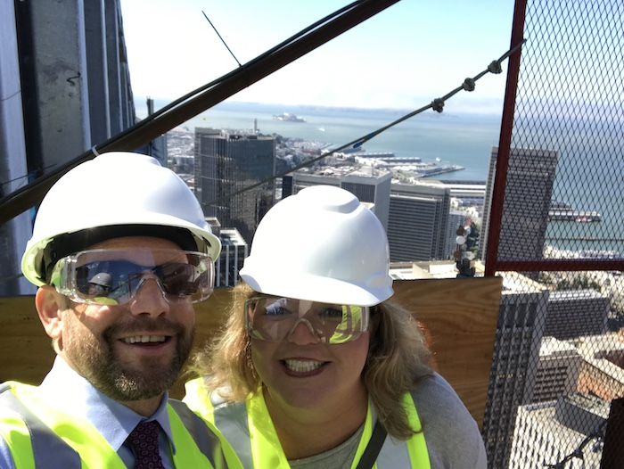 Matt and Britton at the top of 181 Fremont