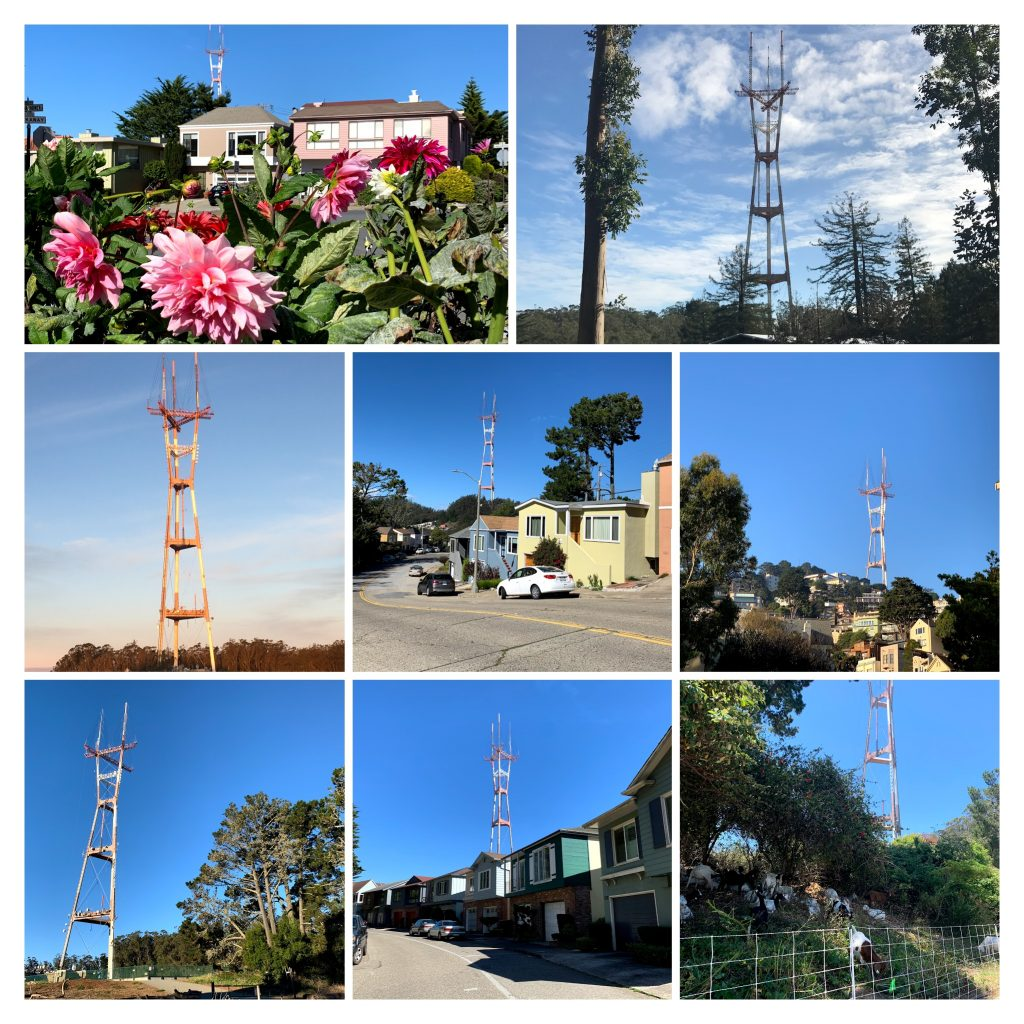 Collage of Sutro Tower photos