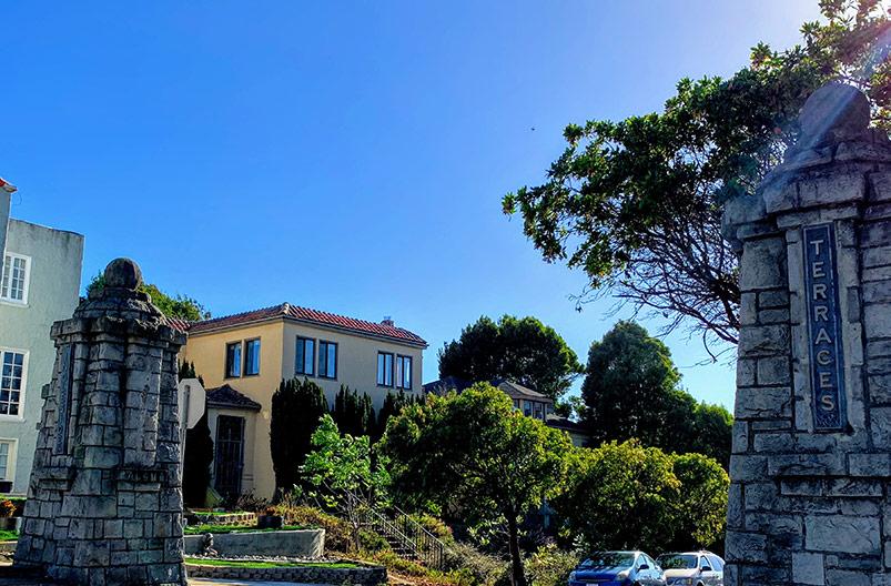 Entrance to Ingleside Terraces Neighborhood San Francisco